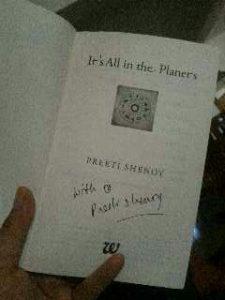 #ItsAllInThePlanets Author signed copy